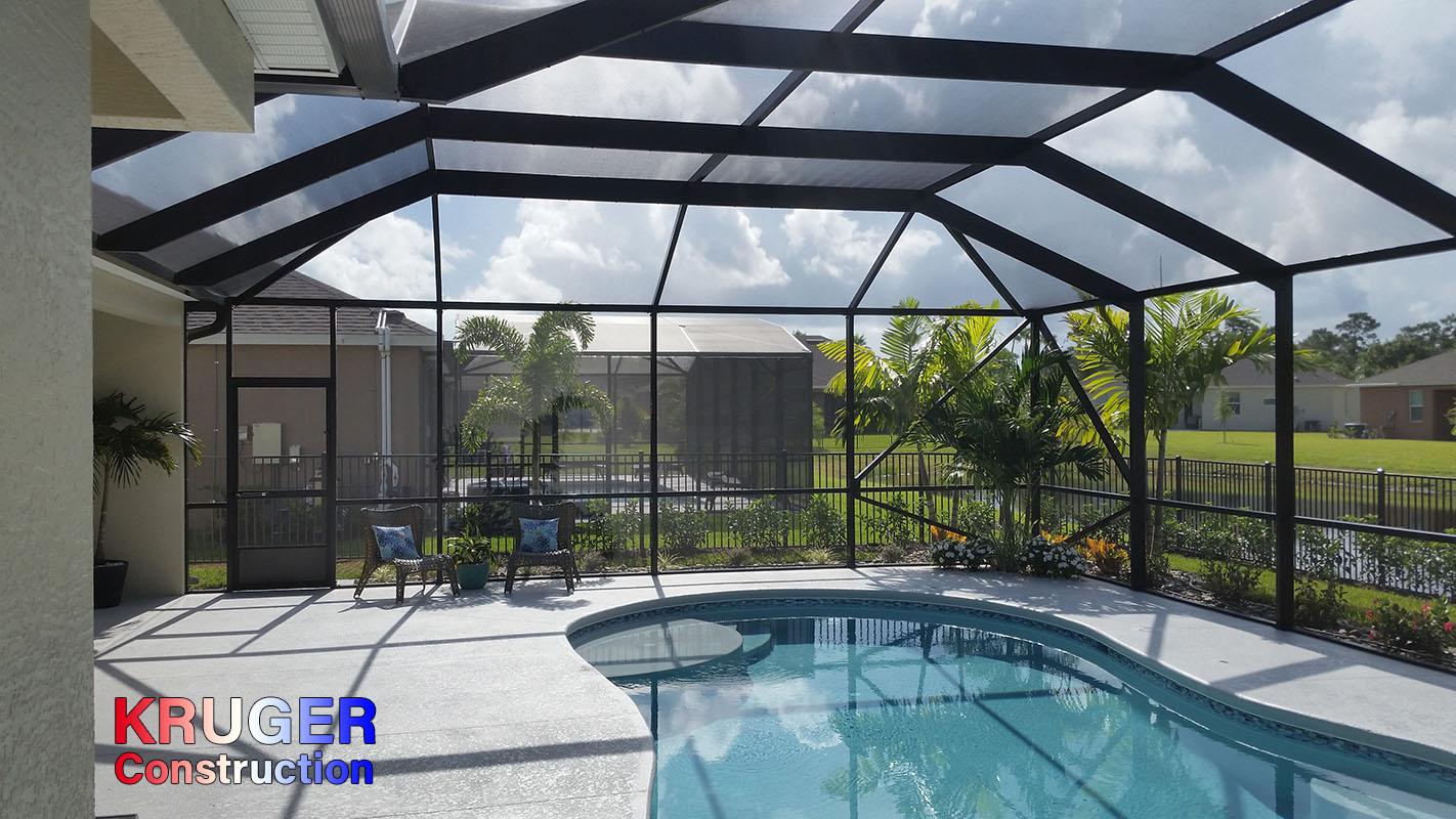 Kruger Construction Vero Beach Pool Enclosures Screen Rooms Florida Rooms